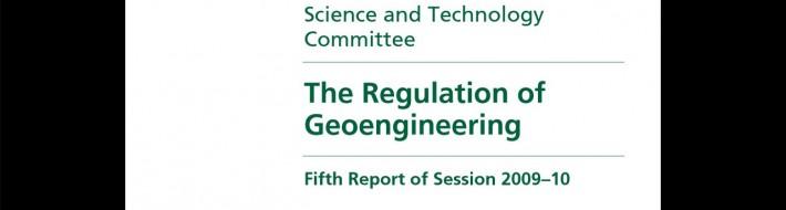 The Regulation of Geoengineering