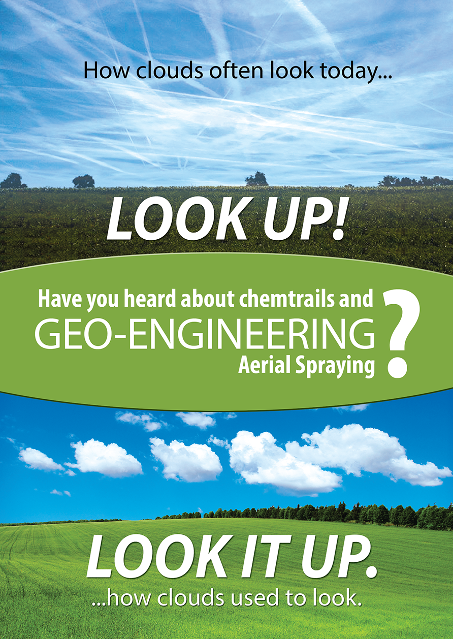 Chemtrails Project UK Geo-engineering and Chemtrails leaflet (front)