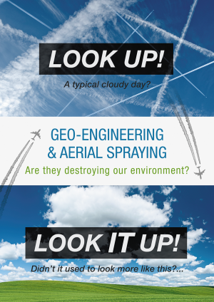 "Chemtrails Project UK ""Are they destroying our environment?"" flyer (front)"