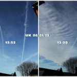 Chemtrails spreading, UK - 26th January 2013