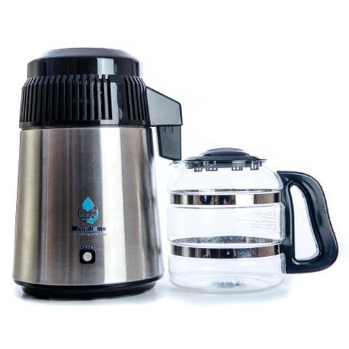 UK water distiller - Megahome 943SBS - with black lid & glass jug