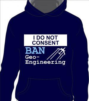 Ban Geoengineering Hoodie (front)