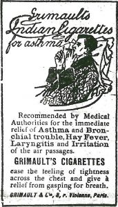 Grimault's cigarette advert
