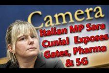 Sara Cunial Italian MP speaks out against Coronavirus and Bill Gates