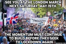 London demo on 15th March 2021