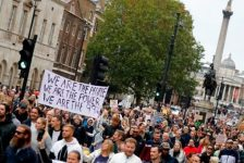 London freedom demo on 29th May 2021